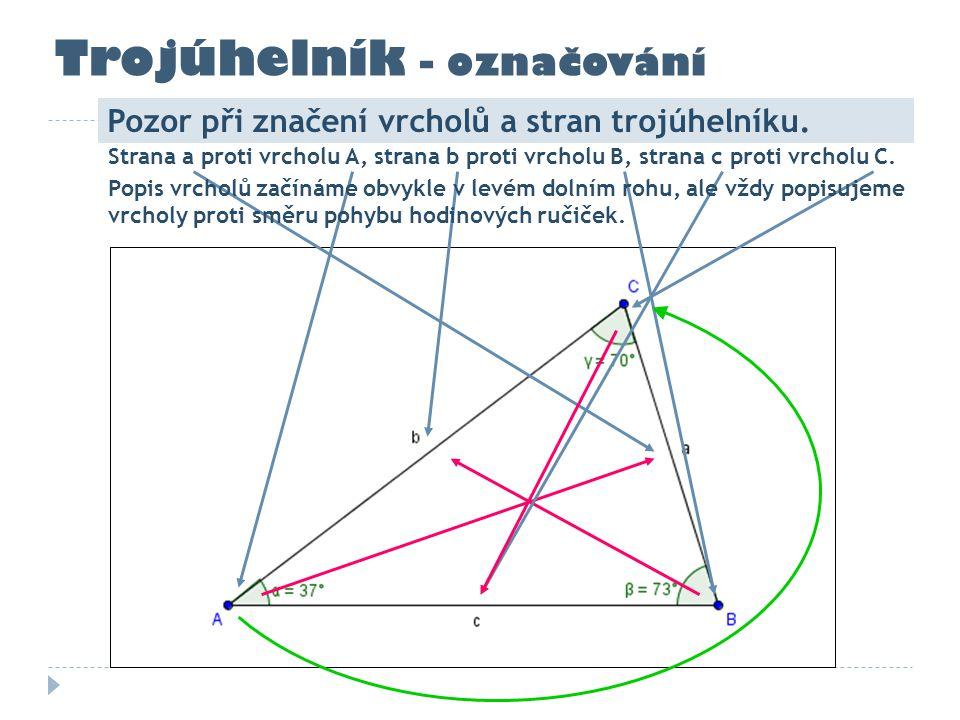 Trojúhelník - označování