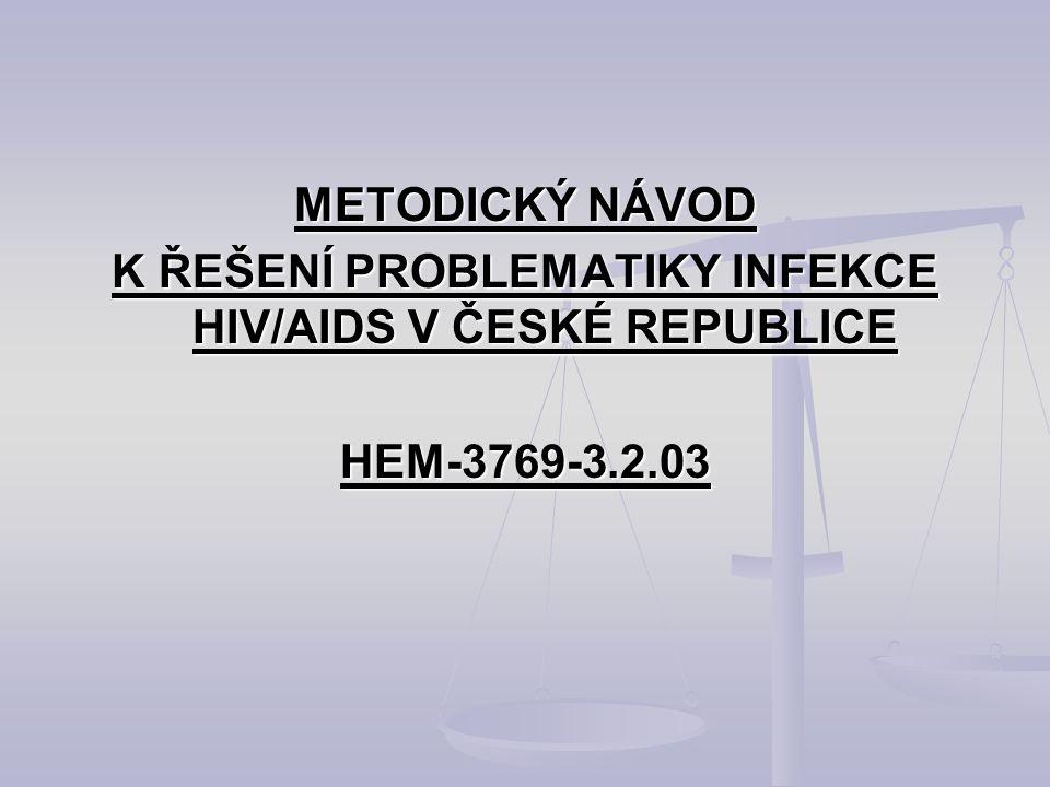 K ŘEŠENÍ PROBLEMATIKY INFEKCE HIV/AIDS V ČESKÉ REPUBLICE