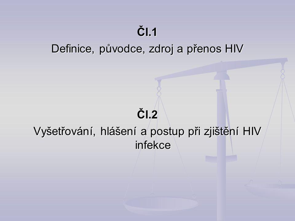 Definice, původce, zdroj a přenos HIV