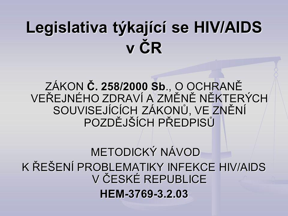 Legislativa týkající se HIV/AIDS v ČR