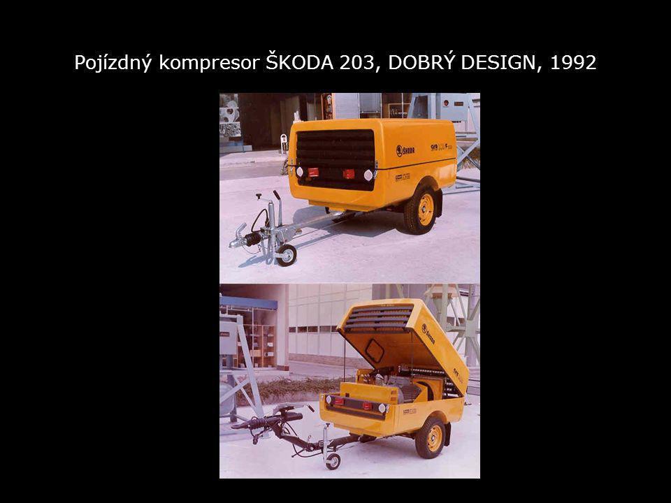 Pojízdný kompresor ŠKODA 203, DOBRÝ DESIGN, 1992