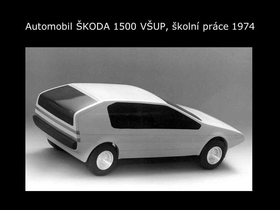 Automobil ŠKODA 1500 VŠUP, školní práce 1974