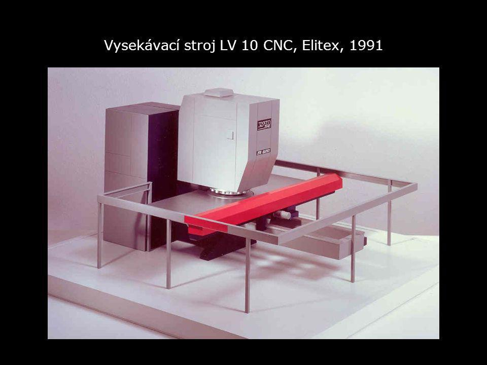 Vysekávací stroj LV 10 CNC, Elitex, 1991