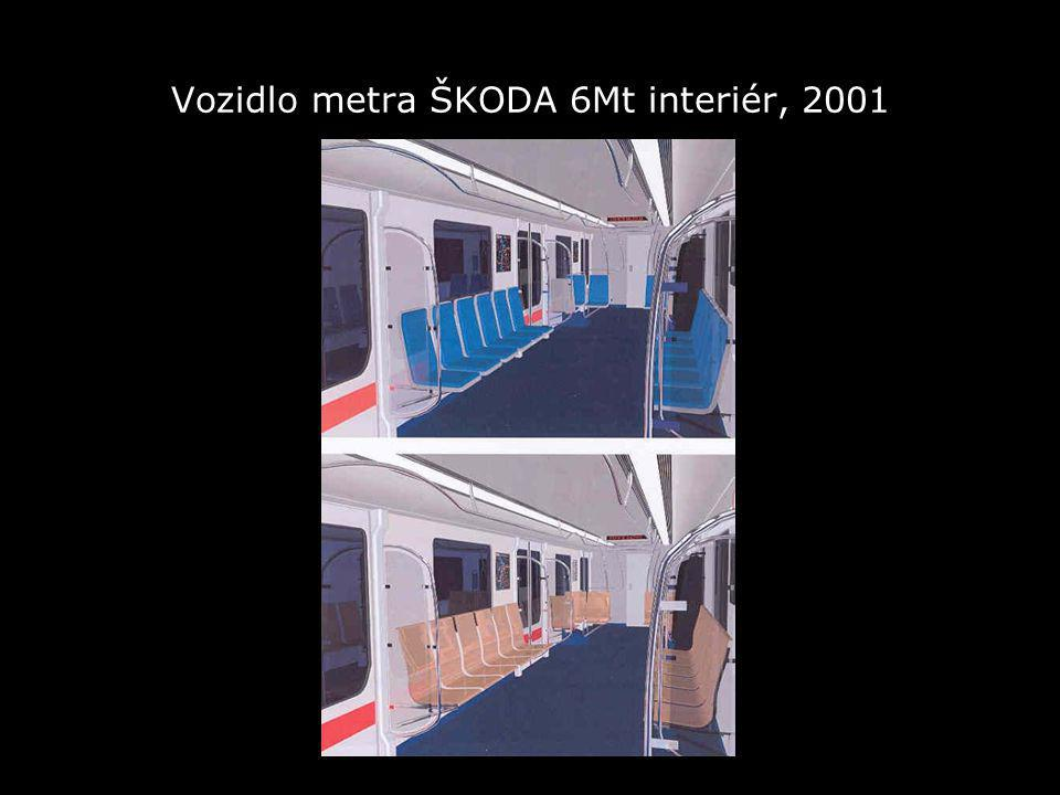 Vozidlo metra ŠKODA 6Mt interiér, 2001