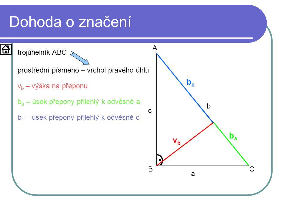 Dohoda o značení bc ba vb a b c A B C trojúhelník ABC