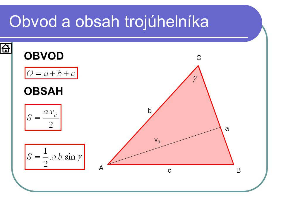 Obvod a obsah trojúhelníka
