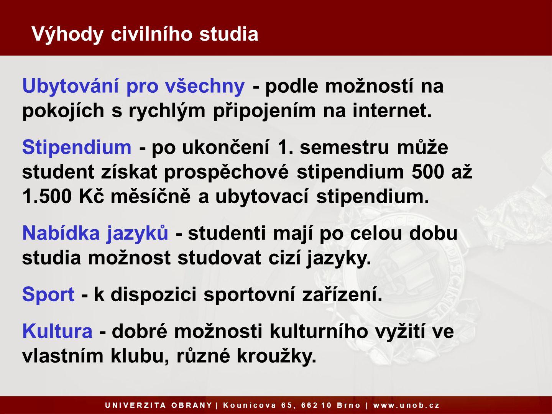 Výhody civilního studia