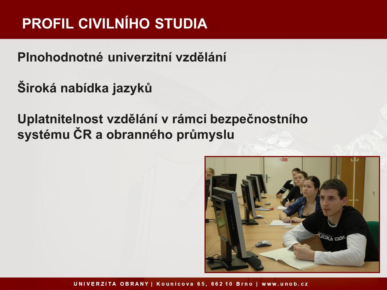 PROFIL CIVILNÍHO STUDIA