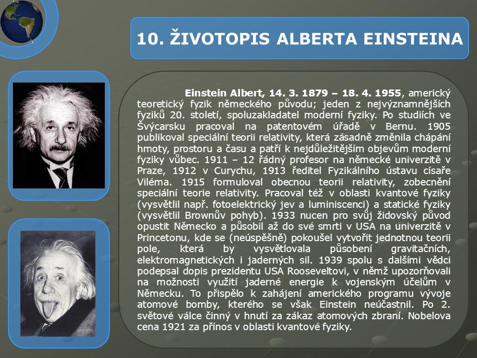 10. ŽIVOTOPIS ALBERTA EINSTEINA
