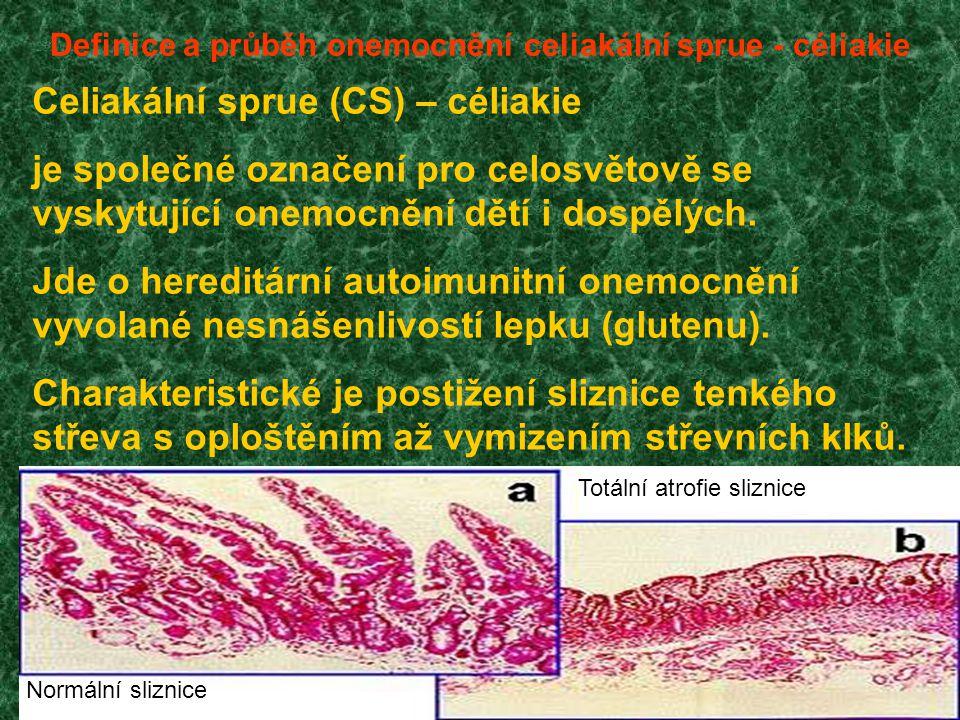 Definice a průběh onemocnění celiakální sprue - céliakie