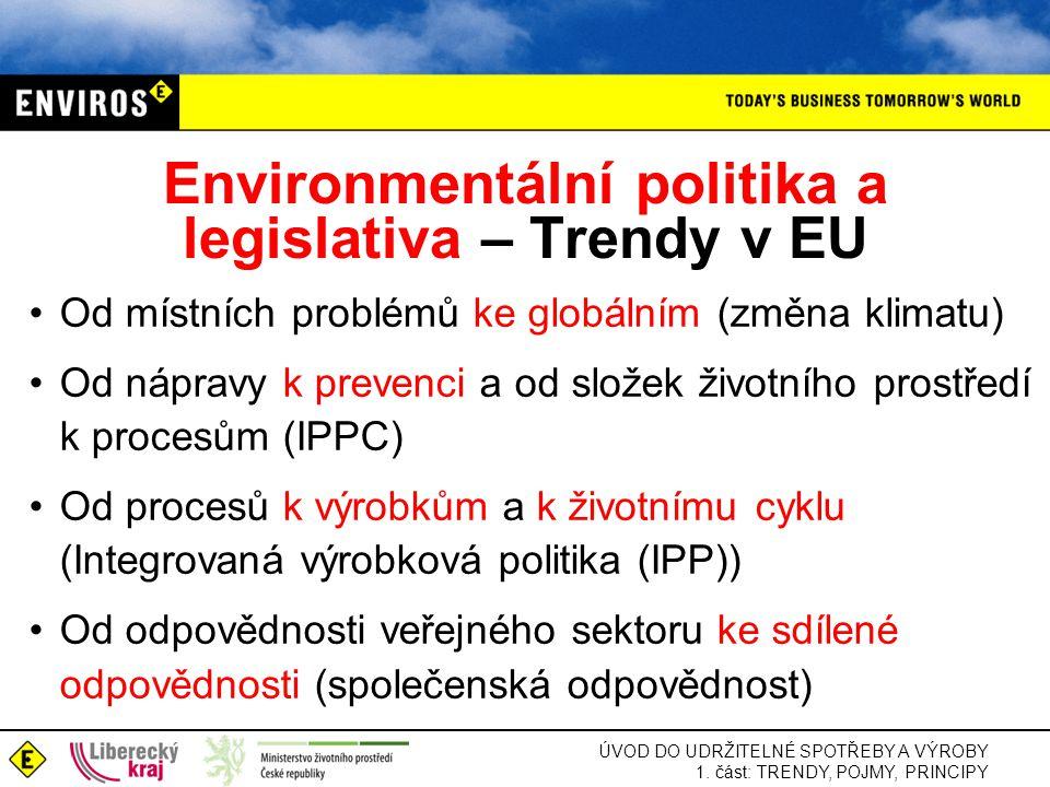 Environmentální politika a legislativa – Trendy v EU