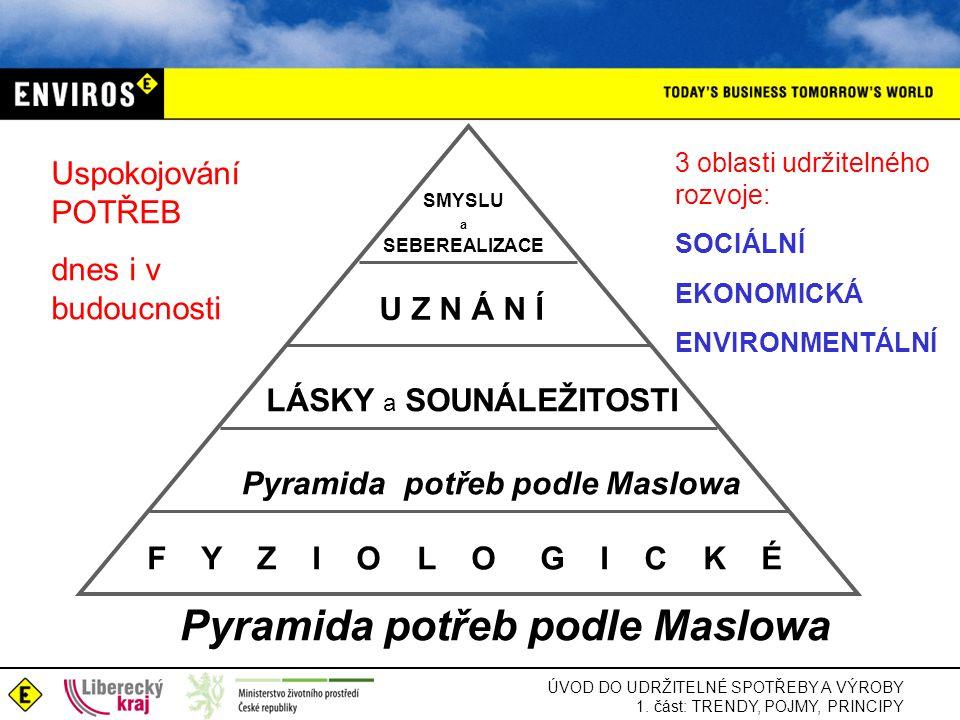 Pyramida potřeb podle Maslowa