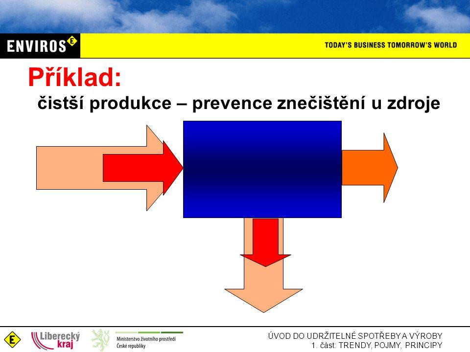 Příklad: čistší produkce – prevence znečištění u zdroje