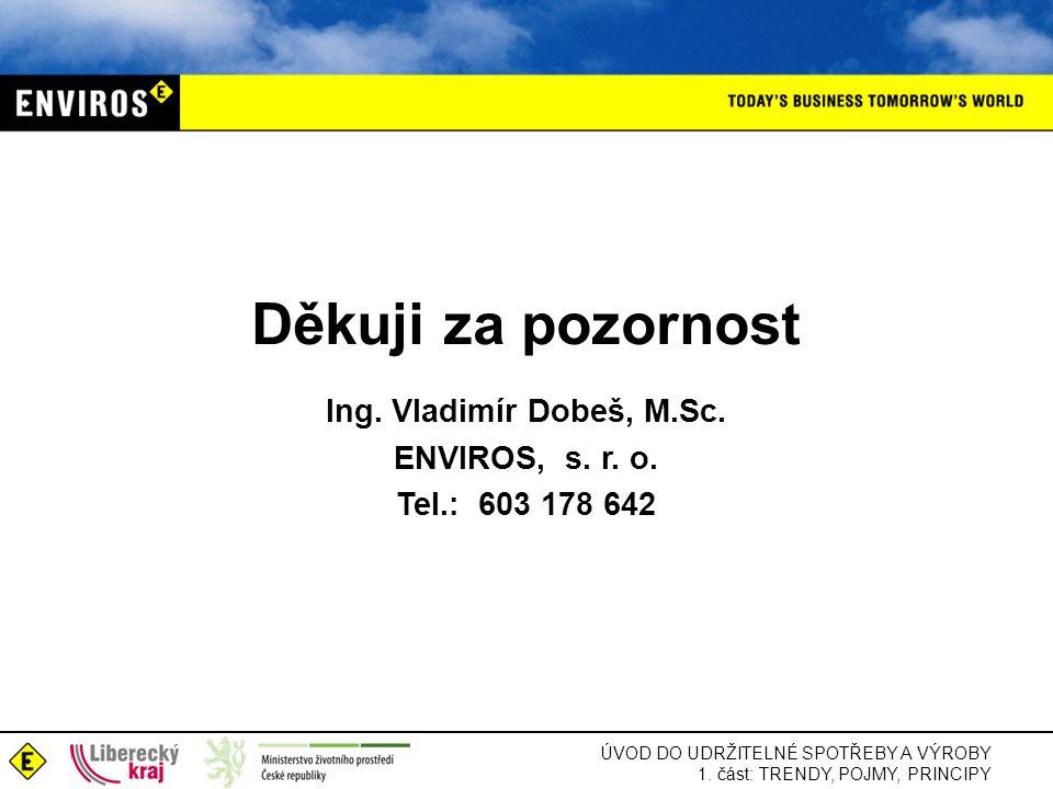 Ing. Vladimír Dobeš, M.Sc. ENVIROS, s. r. o. Tel.: 603 178 642