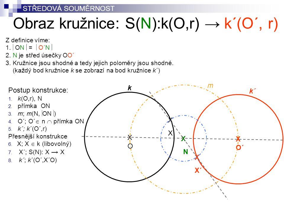 Obraz kružnice: S(N):k(O,r) → k´(O´, r)