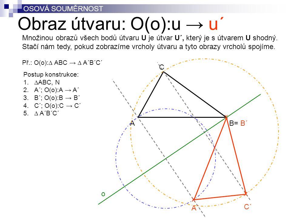 Obraz útvaru: O(o):u → u´