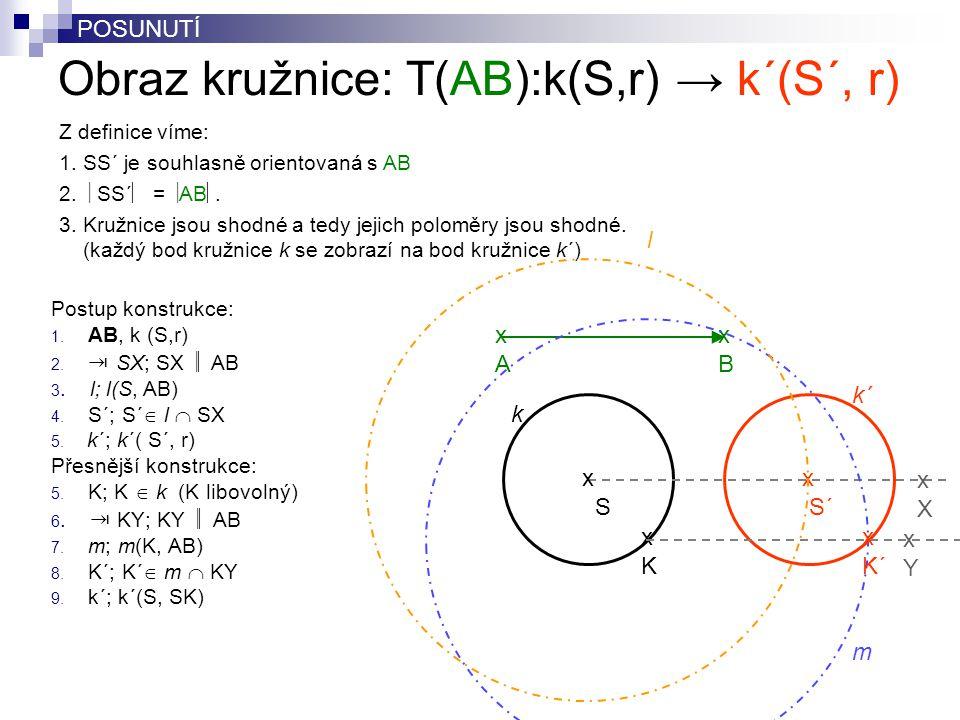 Obraz kružnice: T(AB):k(S,r) → k´(S´, r)