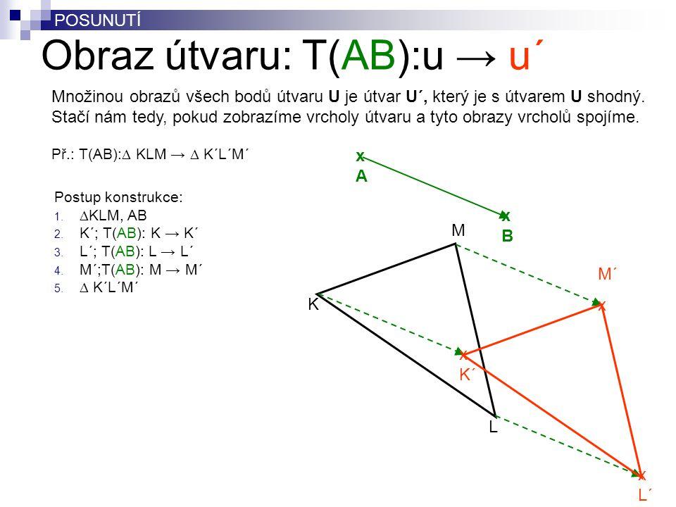 Obraz útvaru: T(AB):u → u´