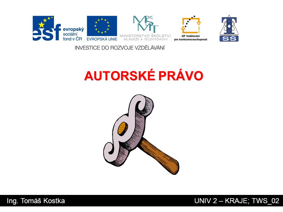 AUTORSKÉ PRÁVO Ing. Tomáš Kostka UNIV 2 – KRAJE; TWS_02