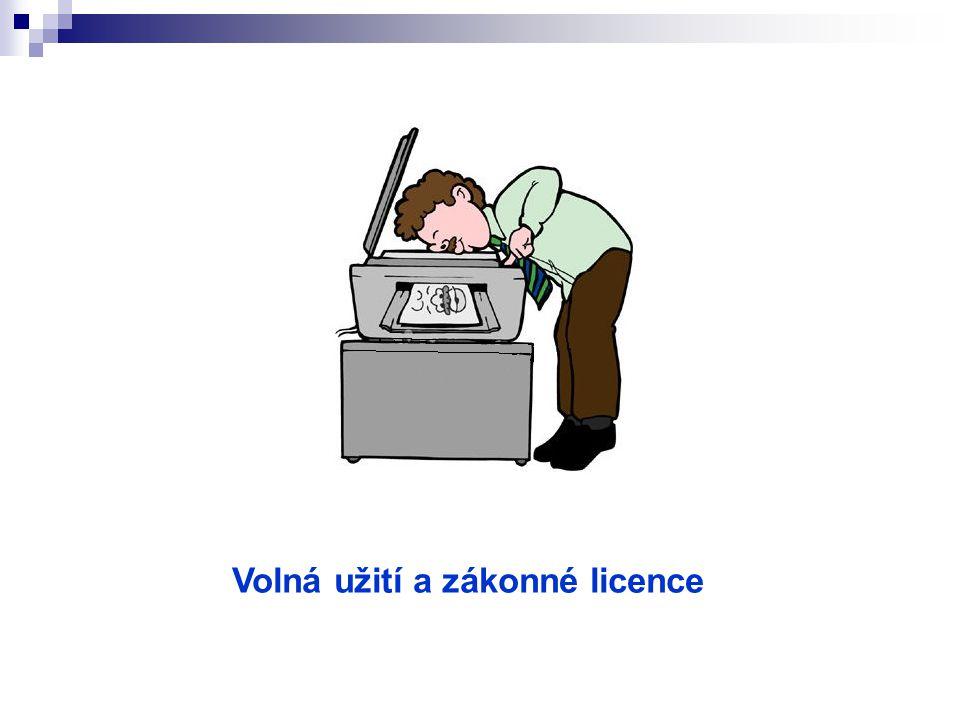 Volná užití a zákonné licence
