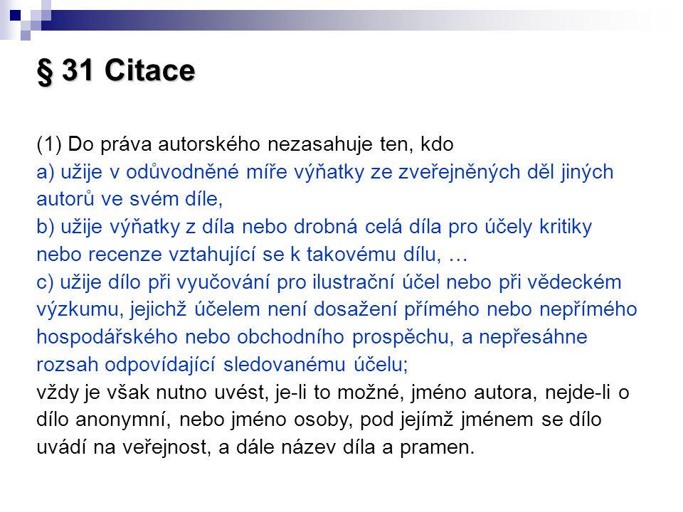 § 31 Citace