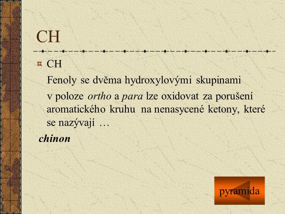 CH CH Fenoly se dvěma hydroxylovými skupinami