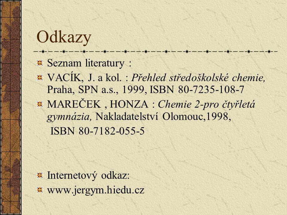 Odkazy Seznam literatury :