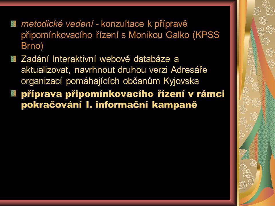 metodické vedení - konzultace k přípravě připomínkovacího řízení s Monikou Galko (KPSS Brno)