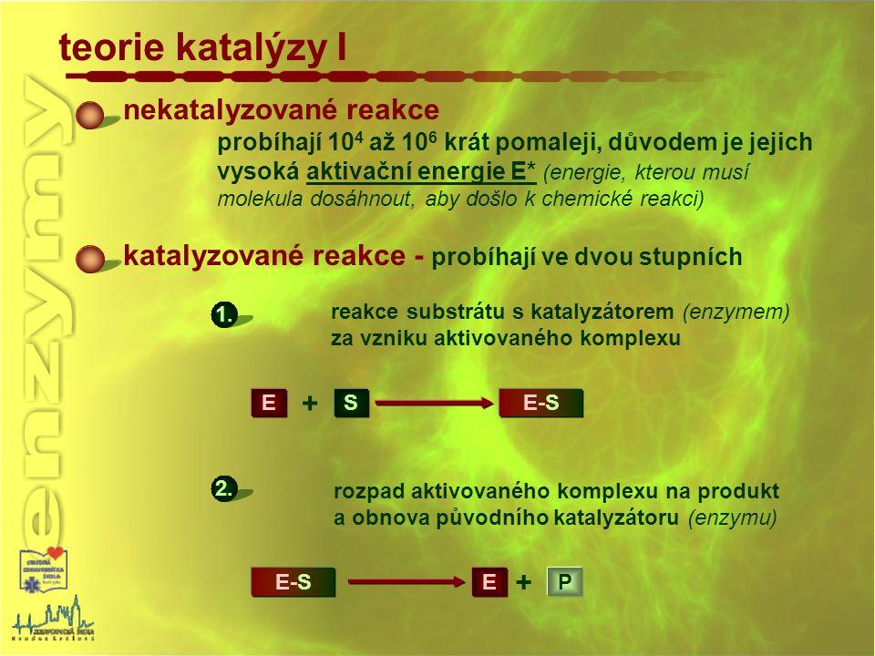 teorie katalýzy I nekatalyzované reakce