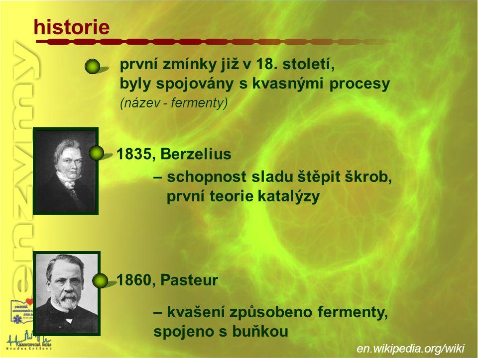 historie první zmínky již v 18. století,