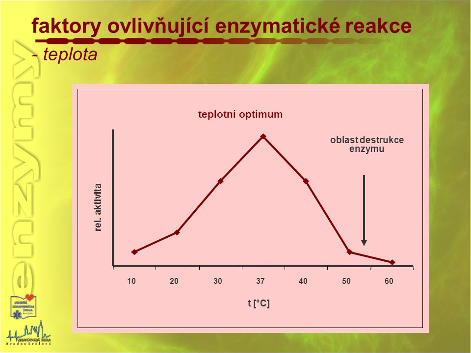oblast destrukce enzymu