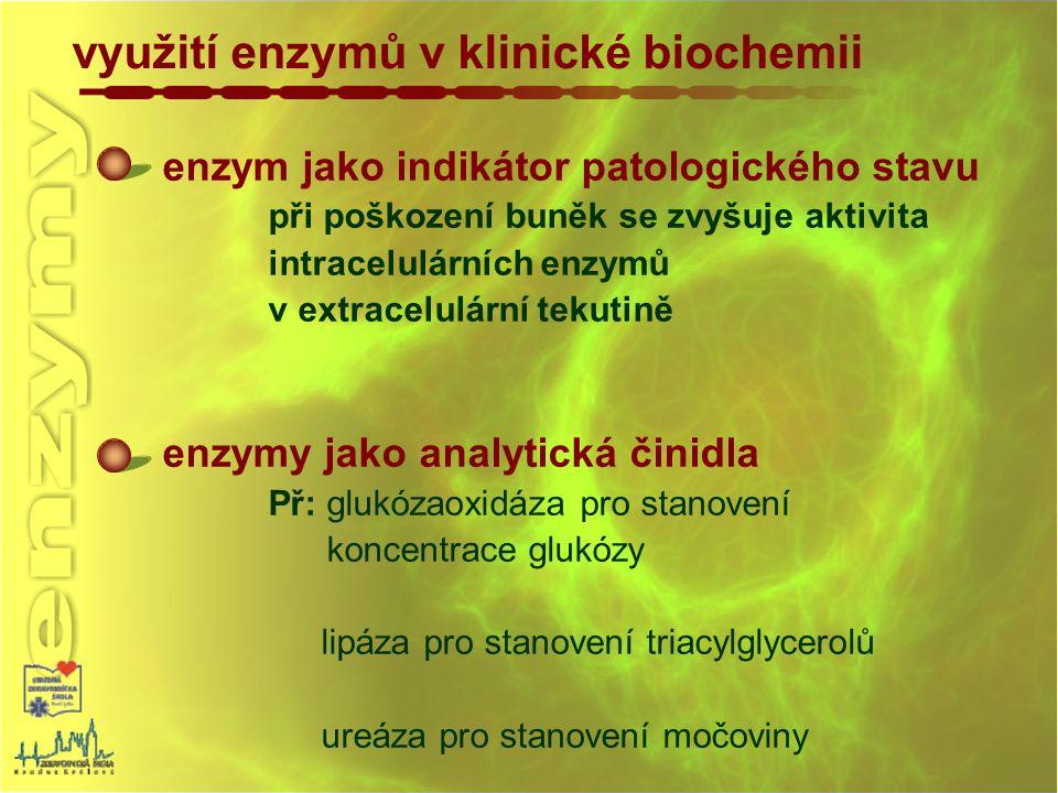 využití enzymů v klinické biochemii