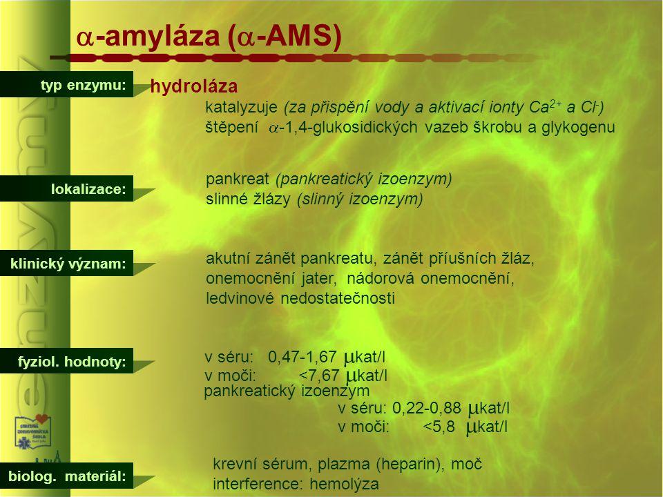 a-amyláza (a-AMS) hydroláza