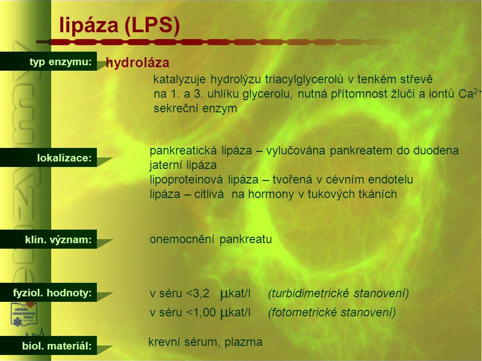 lipáza (LPS) hydroláza