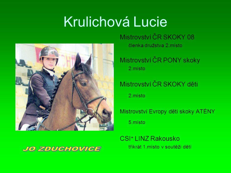 Krulichová Lucie JO ZDUCHOVICE 5.místo Mistrovství ČR SKOKY 08