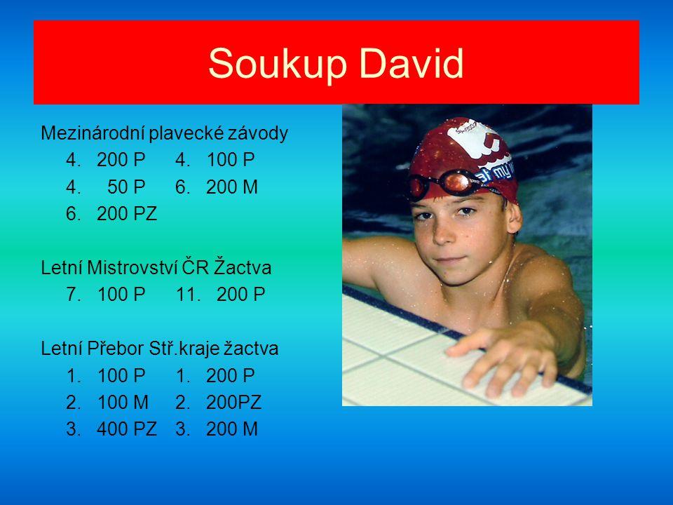 Soukup David Mezinárodní plavecké závody 4. 200 P 4. 100 P