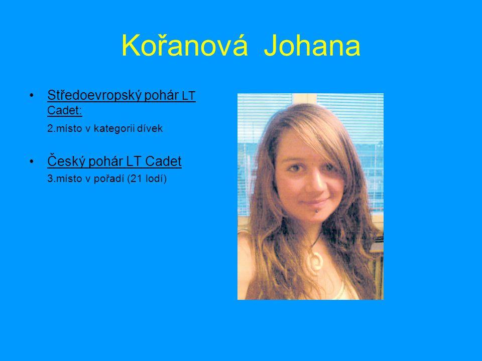 Kořanová Johana Středoevropský pohár LT Cadet: Český pohár LT Cadet