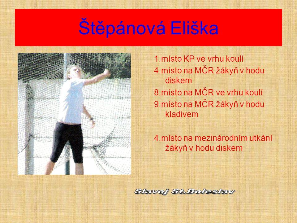 Štěpánová Eliška Slavoj St.Boleslav 1.místo KP ve vrhu koulí