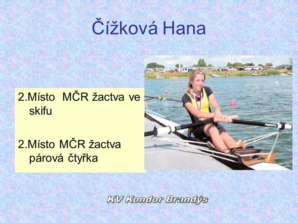 Čížková Hana KV Kondor Brandýs 2.Místo MČR žactva ve skifu
