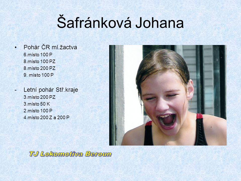 Šafránková Johana TJ Lokomotiva Beroun Pohár ČR ml.žactva