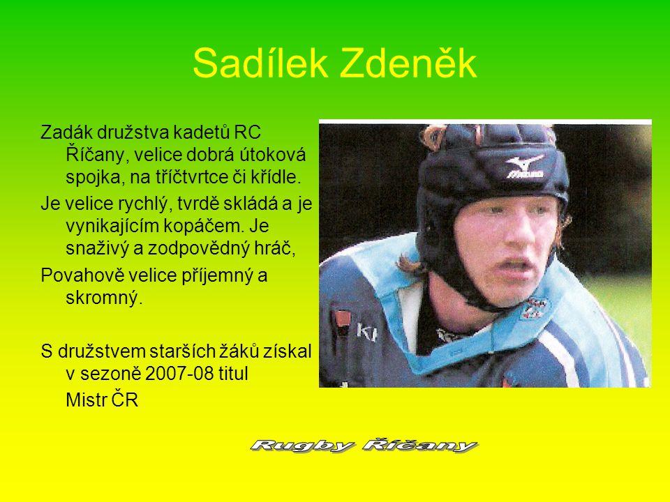 Sadílek Zdeněk Rugby Říčany