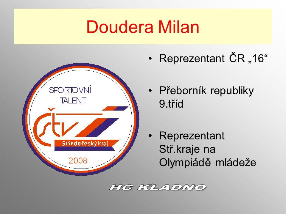 """Doudera Milan HC KLADNO Reprezentant ČR """"16"""