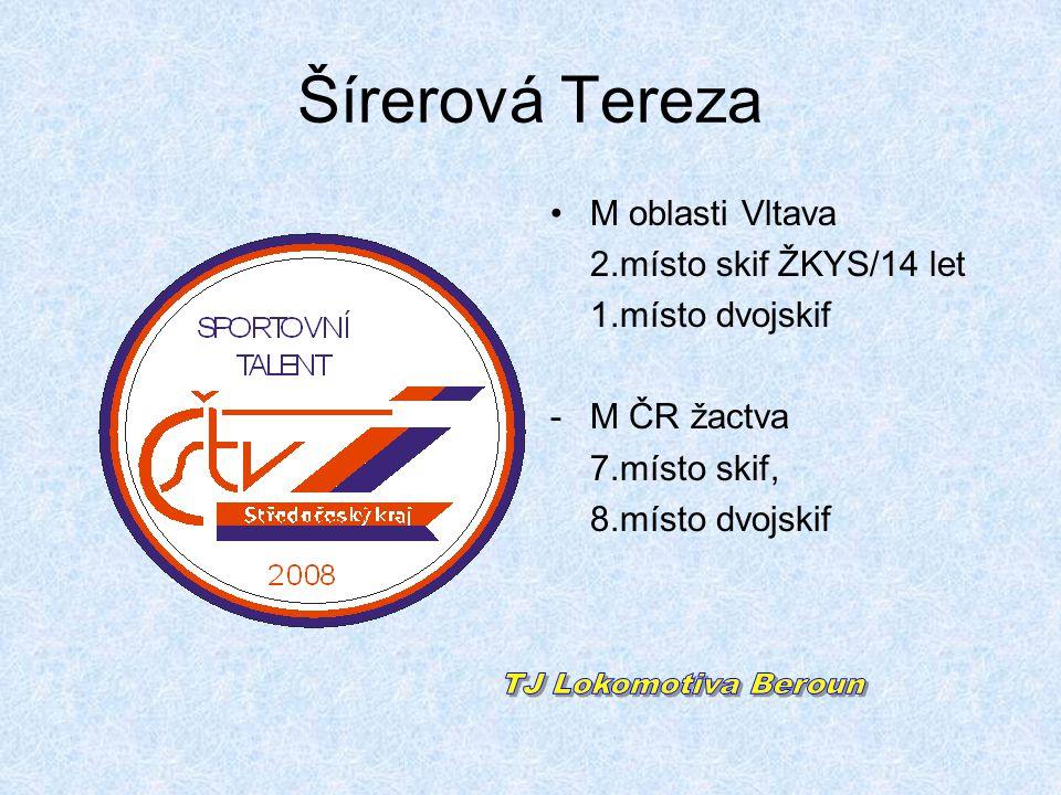 Šírerová Tereza TJ Lokomotiva Beroun M oblasti Vltava