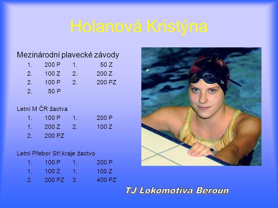 Holanová Kristýna TJ Lokomotiva Beroun Mezinárodní plavecké závody