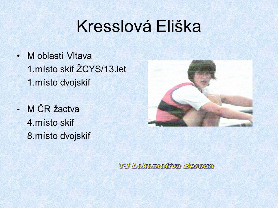 Kresslová Eliška TJ Lokomotiva Beroun M oblasti Vltava