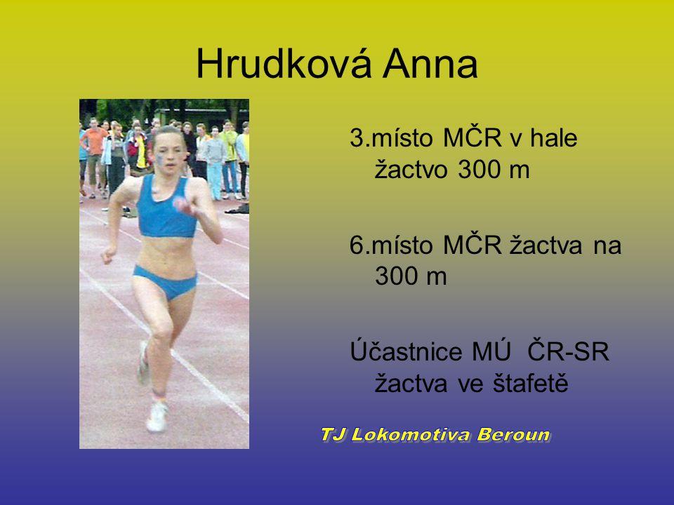 Hrudková Anna TJ Lokomotiva Beroun 3.místo MČR v hale žactvo 300 m