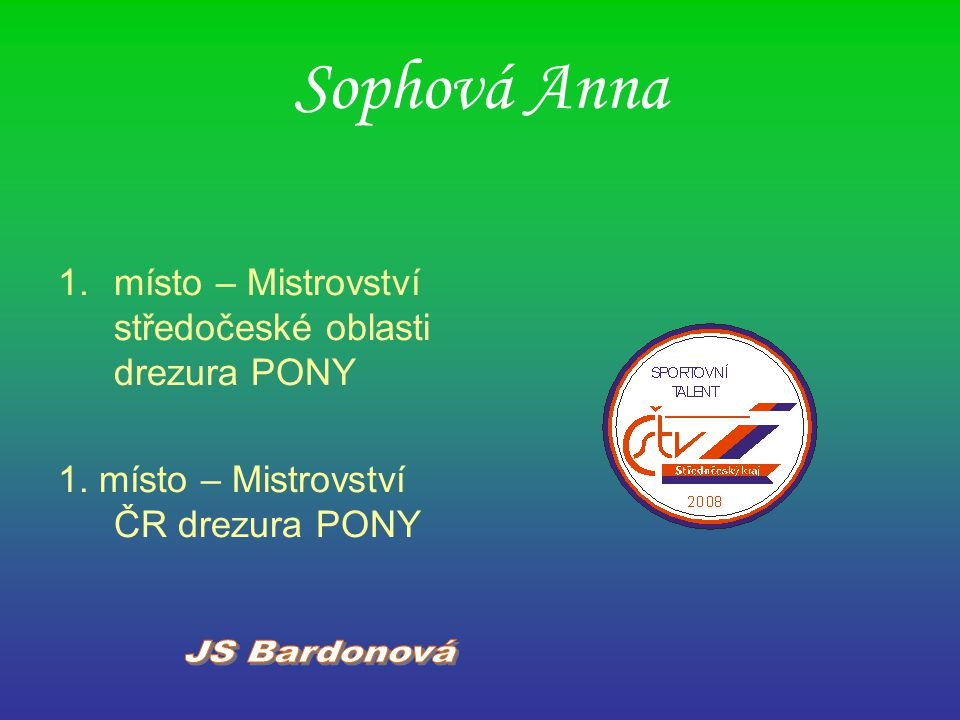 Sophová Anna JS Bardonová