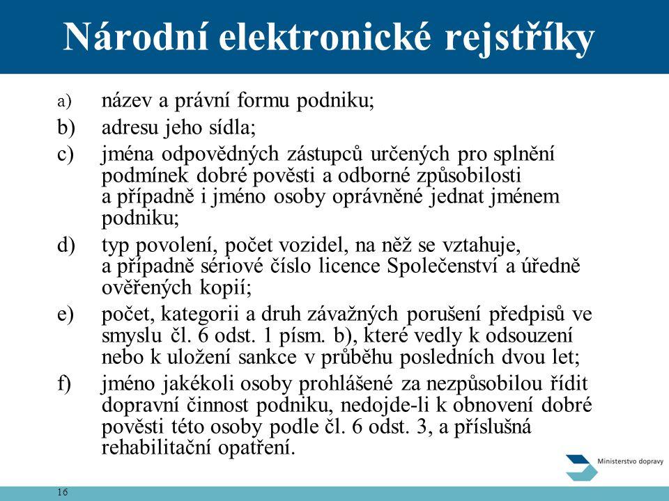 Národní elektronické rejstříky