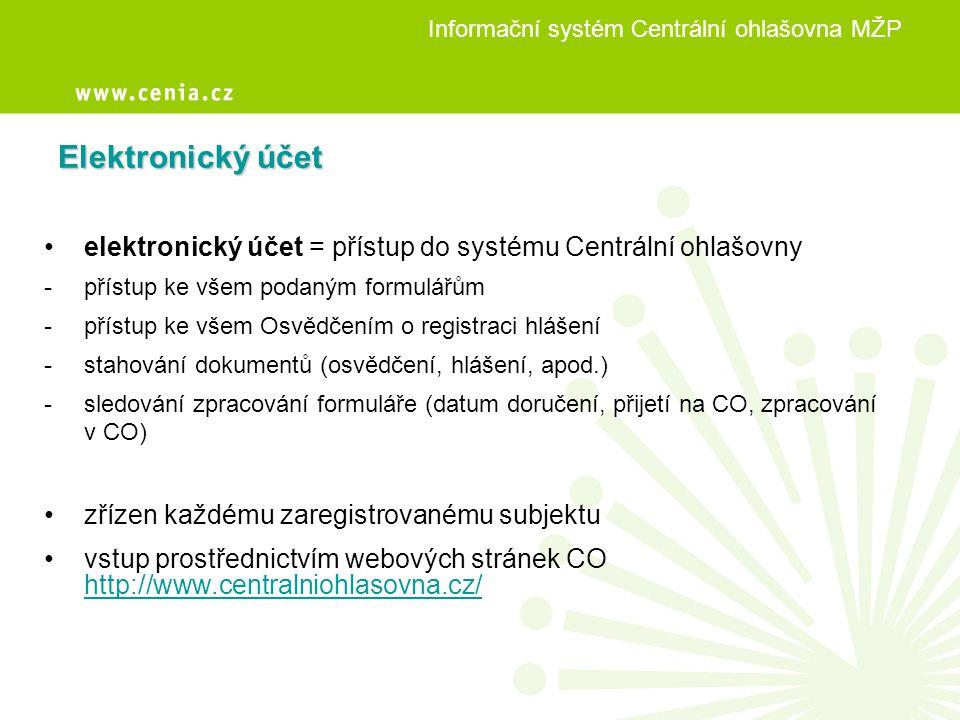 Informační systém Centrální ohlašovna MŽP