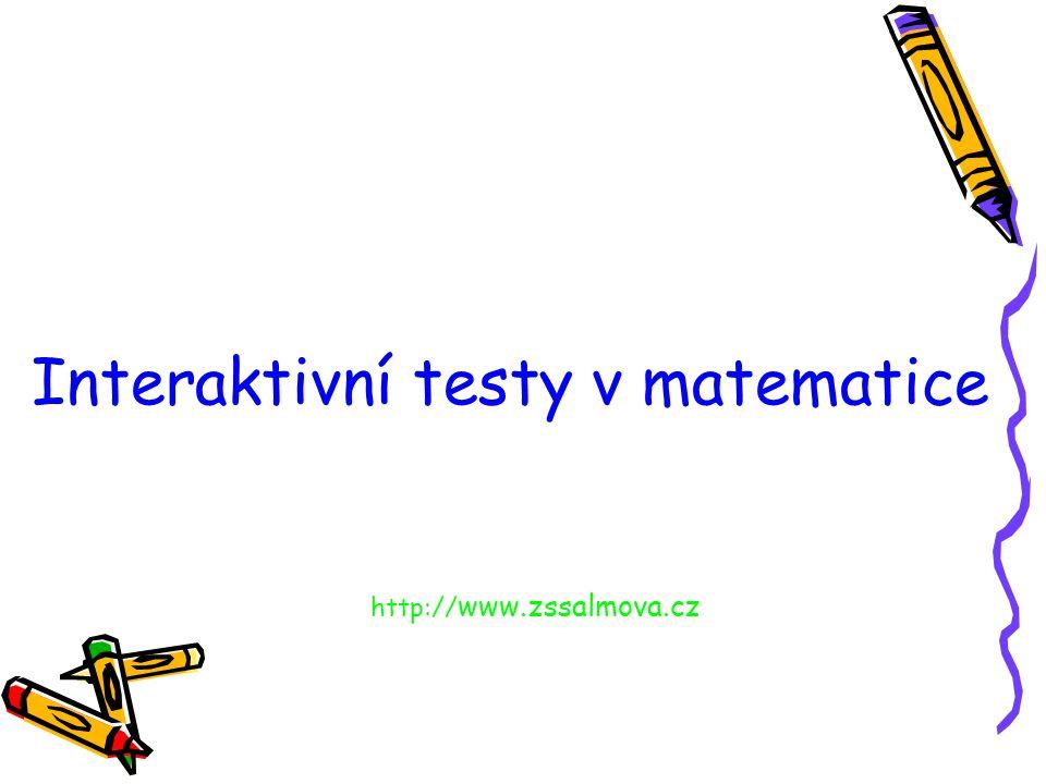 Interaktivní testy v matematice